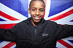 © Joel Goodman - 07973 332324 . 03/06/2012 . Manchester , UK . Eltayeb Diab (correct) , 12 , from Moss Side at a Jubilee party featuring the residents of Farnborough Road , Winstandley Road end , Miles Platting , as streets are closed for street parties for the Queen's Diamond Jubilee celebrations . Photo credit : Joel Goodman