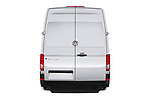 Straight rear view of 2020 Volkswagen Crafter e-Crafter 4 Door Cargo Van Rear View  stock images