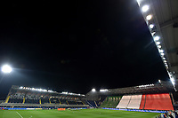 A general view of the stadium with teams line up <br /> during the Uefa Nation A League Group 1 football match between Italy and Netherlands at Atleti azzurri d Italia Stadium in Bergamo (Italy), October, 14, 2020. Photo Andrea Staccioli / Insidefoto