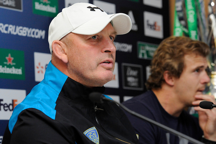 Vern Cotter, ASM Clermont Auvergne Head Coach during the Captain's Run press conference before the Heineken Cup Final at the Aviva Stadium, Dublin on Friday 17th May 2013 (Photo by Rob Munro).