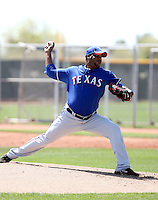 Omar Beltre - Texas Rangers, 2010 minor league spring training..Photo by:  Bill Mitchell/Four Seam Images.