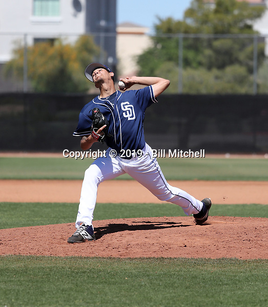 Gabriel Morales - San Diego Padres 2019 spring training (Bill Mitchell)