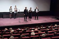 Kiyoshi KUROSAWA - Tahar RAHIM - Constance ROUSSEAU - Olivier GOURMET - Avant-premiere du film ' Le Secret de la Chambre Noire ' de Kiyoshi Kurosawa - La Cinematheque francaise 6 fevrier 2017 - Paris - France