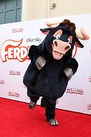 "LOS ANGELES - DEC 10:  Ferdinand character at the ""Ferdinand"" Screening at Zanuck Theater, 20th Century Fox Studio on December 10, 2017 in Los Angeles, CA"