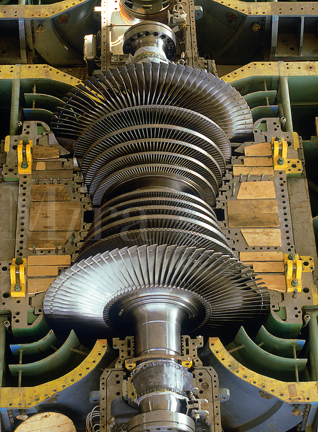 Turbine rotor uncovered in power station during installation