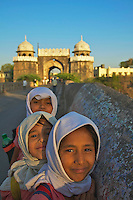 Muslim School Children in Aurangabad Town, India