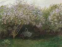 Claude Monet - Lilacs, Grey Weather (1872). Paris, musee d'Orsay.