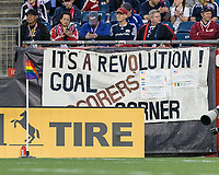 Foxborough, Massachusetts - June 3, 2017: In a Major League Soccer (MLS) match, New England Revolution (blue/white) defeated Toronto FC (red), 3-0, at Gillette Stadium. New England Revolution host the first official Pride Night at Gillette Stadium.