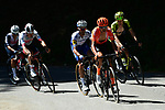 Fausto Masnada (ITA) CCC Team and Julian Alaphilippe (FRA)  Deceuninck-Quick Step part of the breakaway during Stage 4 of Criterium du Dauphine 2020, running 157km from Ugine to Megeve, France. 15th August 2020.<br /> Picture: ASO/Alex Broadway | Cyclefile<br /> All photos usage must carry mandatory copyright credit (© Cyclefile | ASO/Alex Broadway)