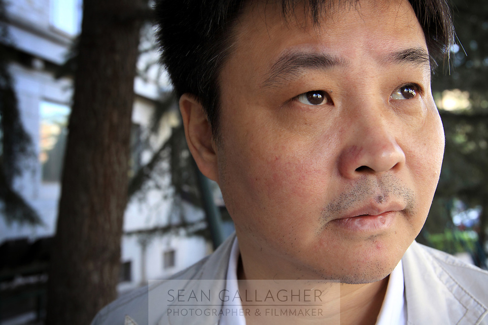 CHINA. Beijing. Yu Hua, the prominent and controversial Chinese author. 2009