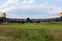 150719 | The 148th Open - Monday Practice<br /> <br /> The 18th green during practice for the 148th Open Championship at Royal Portrush Golf Club, County Antrim, Northern Ireland. Photo by John Dickson - DICKSONDIGITAL