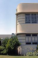 Los Angeles: Alcoa Building--detail.  Photo '85.