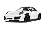 Stock pictures of low aggressive front three quarter view of 2017 Porsche 911 Carrera-Coupe 2 Door Coupe Low Aggressive