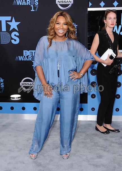 25 June 2017 - Los Angeles, California - Mona Scott. 2017 BET Awards held at the Microsoft Square in Los Angeles. Photo Credit: Birdie Thompson/AdMedia