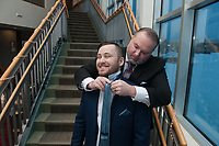 Wedding of Jillian Martin and Drake Duffy at Bayshore Clubhouse in Anchorage, Alaska Dec. 28, 2019
