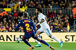 Marcelo Vieira Da Silva of Real Madrid is tackled by Nelson Cabral Semedo of FC Barcelona during the La Liga 2017-18 match between FC Barcelona and Real Madrid at Camp Nou on May 06 2018 in Barcelona, Spain. Photo by Vicens Gimenez / Power Sport Images