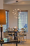 Contemporary Breakfast Room with Upholstered Chrome Chairs