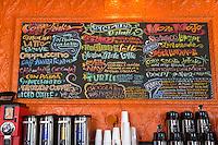 New Orleans, Louisiana.  Menu,  Mojo Coffee House in the Garden District.  1500 Magazine Street.