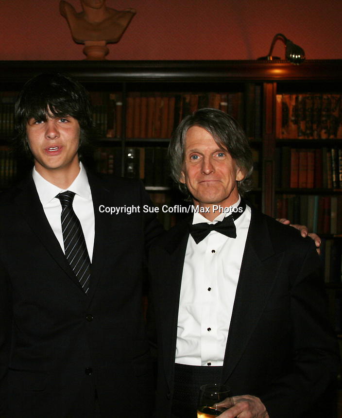 """Mick Hazen with his dad Craig as they attend """"When You Wish Upon A Star"""" on March 6, 2010 which benefits Child Life and Creative Arts Therapy Department, Maria Fareri Children's Hospital at Westchester Medical Center, Westchester, New York. The evening began with a cocktail reception and silent auction, a children's performance (singing) followed by dinner, dancing and more. (Photo by Sue Coflin/Max Photos)"""
