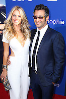 """HOLLYWOOD, LOS ANGELES, CA, USA - AUGUST 07: Sarah Greenfield, Luke Greenfield at the Los Angeles Premiere Of 20th Century Fox's """"Let's Be Cops"""" held at ArcLight Cinemas Cinerama Dome on August 7, 2014 in Hollywood, Los Angeles, California, United States. (Photo by Xavier Collin/Celebrity Monitor)"""