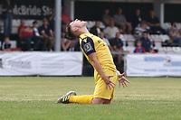 Frustration for Charlie Ruff of Hornchurch during Hornchurch vs Dagenham & Redbridge, Friendly Match Football at Hornchurch Stadium on 24th July 2021