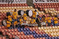 SANDY, UT - OCTOBER 03: Utah Royals FC drum line before a game between Portland Thorns FC and Utah Royals FC at Rio Tinto Stadium on October 03, 2020 in Sandy, Utah.