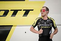 Matteo TRENTIN (ITA/Mitchelton-Scott) warming up for Stage 5 (ITT): Barbentane to Barbentane (25km)<br /> 77th Paris - Nice 2019 (2.UWT)<br /> <br /> ©kramon