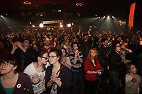 Quebec Solidaire gathering at Olympia theatre on election night ,April 7, 2014.