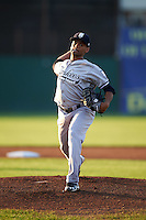 Staten Island Yankees starting pitcher Jonathan Padilla (65) during a game against the Batavia Muckdogs on August 26, 2016 at Dwyer Stadium in Batavia, New York.  Staten Island defeated Batavia 6-2.  (Mike Janes/Four Seam Images)