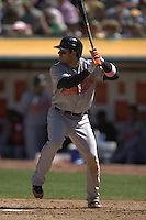 Brian Roberts. Baseball: Baltimore Orioles vs Oakland Athletics at McAfee Coliseum in Oakland, CA on September 2, 2006. Photo by Brad Mangin