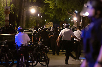 Police move in to disperse protestors gathered in Washington, D.C., U.S., on Monday, June 1, 2020, following the death of an unarmed black man at the hands of Minnesota police on May 25, 2020.  More than 200 active duty military police were deployed to Washington D.C. following three days of protests.  Credit: Stefani Reynolds / CNP/AdMedia