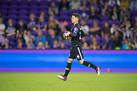 Orlando, FL - Saturday March 24, 2018: Orlando Pride goalkeeper Ashlyn Harris (24) during a regular season National Women's Soccer League (NWSL) match between the Orlando Pride and the Utah Royals FC at Orlando City Stadium. The game ended in a 1-1 draw.