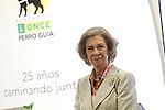 Queen Sofia of Spain attends the 25th anniversary of 'Perro Guia ONCE's Foundation'. September 24, 2015.(ALTERPHOTOS/Acero)