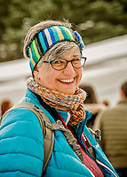 5 December 2015: Colleen Kiefer, Erin Hamlin's Aunt, is all smiles after Erin's first run through of the Viessmann World Cup Women's Luge at the Olympic Sports Track in Lake Placid, New York, USA. Hamlin's run set a course record of 43.912, breaking her own previous track record of 43.985 set on February 6, 2009. Hamlin went on to win first place with a combined 2-run time of 1:27.961 for the day. Mandatory Credit: Ed Wolfstein Photo *** RAW (NEF) Image File Available ***