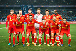 Adelaide United squad pose for team photo during the AFC Champions League 2017 Group H match between Jiangsu FC (CHN) vs Adelaide United (AUS) at the Nanjing Olympics Sports Center on 01 March 2017 in Nanjing, China. Photo by Marcio Rodrigo Machado / Power Sport Images