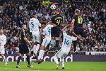 Real Madrid Raphael Varane and Carlos Henrique Casemiro and Tottenham Toby Alderweireld and Harry Kane during UEFA Champions League match between Real Madrid and Tottenham at Santiago Bernabeu in Madrid, Spain October 17, 2017. (ALTERPHOTOS/Borja B.Hojas)
