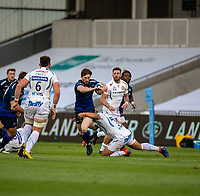 21st August 2020; AJ Bell Stadium, Salford, Lancashire, England; English Premiership Rugby, Sale Sharks versus Exeter Chiefs;  Simon Hammersley of Sale Sharks with the ball
