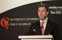 Alexandre L'Heureux, President & CEO , WSP parle a la tribune du Cercle canadien de Montreal, lundi 30 mai 2016.<br /> <br /> PHOTO : Pierre Roussel -  Agence Quebec Presse