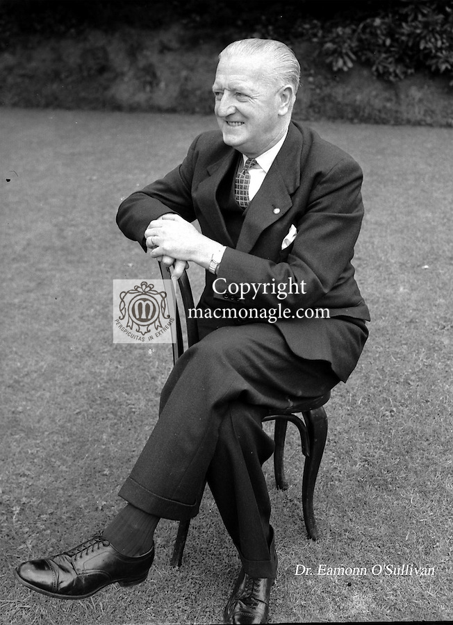 Dr Eamonn O'Sullivan, the famed Kerry trainer pictured in 1955..Picture by Harry MacMonagle..© macmonagle.com photo archive