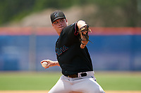 GCL Marlins pitcher Codie Paiva (39) during a Gulf Coast League game against the GCL Mets on August 11, 2019 at St. Lucie Sports Complex in St. Lucie, Florida.  The Marlins defeated the Mets 3-2 in the second game of a doubleheader.  (Mike Janes/Four Seam Images)