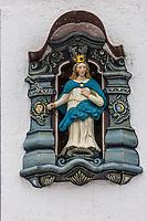 Europe/Allemagne/Bade-Würrtemberg/Forêt Noire/Haslach:  Ex-Voto, décorations religieuses à la façade des maisons