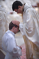 monsignor Angelo De Donatis,Pope Francis  the priests ordination mass in Saint Peter's Basilica at the Vatican on April 22, 2018.
