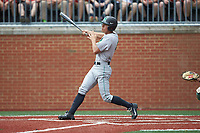 Corey Bird (4) of the Marshall Thundering Herd follows through on his swing against the Charlotte 49ers at Hayes Stadium on April 23, 2016 in Charlotte, North Carolina. The Thundering Herd defeated the 49ers 10-5.  (Brian Westerholt/Four Seam Images)