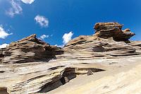 Sandstone cliffs on the Ka'iwi shoreline of O'ahu