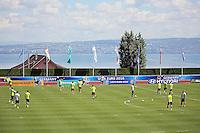 Letztes Training der Nationalmannschaft am Genfer See in Evian - Abschlusstraining der Deutschen Nationalmannschaft in Evian vor dem Halbfinale gegen Frankreich