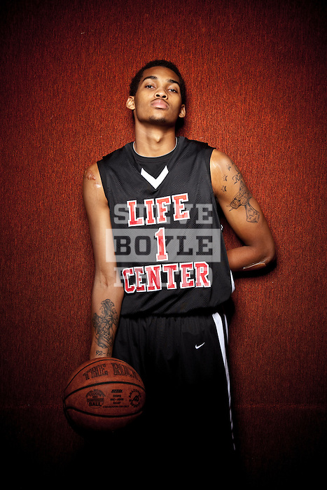 Life Center Academy basketball player LaQuinton Ross on October 20, 2010 in Burlington, New Jersey.  Ross will play for Ohio State in the fall of 2010..2010 © Steve Boyle