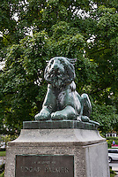 Princeton University Tiger sculpture at Palmer Square, Princeton, New Jersey, USA