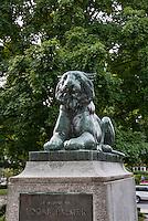 Princeton University Tiger sculpture at Palmer Square, Princeton, New Jersey, USA