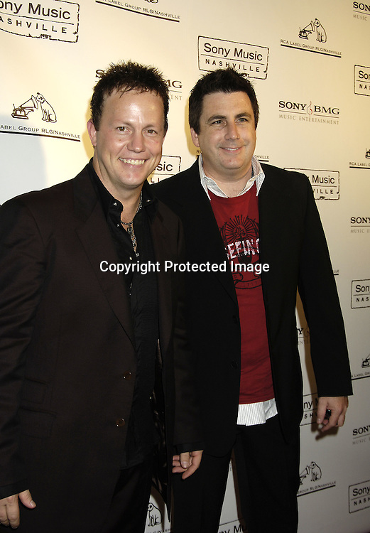 Dean Sams and Michael Brill of Lonestar ..arriving at the Sony BMG celebration of the 2005 Country Music Awards on November 15, 2005 at Gotham Hall. ..Photo by Robin Platzer, Twin Images