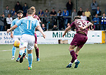 Forfar v St Johnstone…28.07.18…  Station Park    Betfred Cup<br />Matty Kennedy scores his goal<br />Picture by Graeme Hart. <br />Copyright Perthshire Picture Agency<br />Tel: 01738 623350  Mobile: 07990 594431